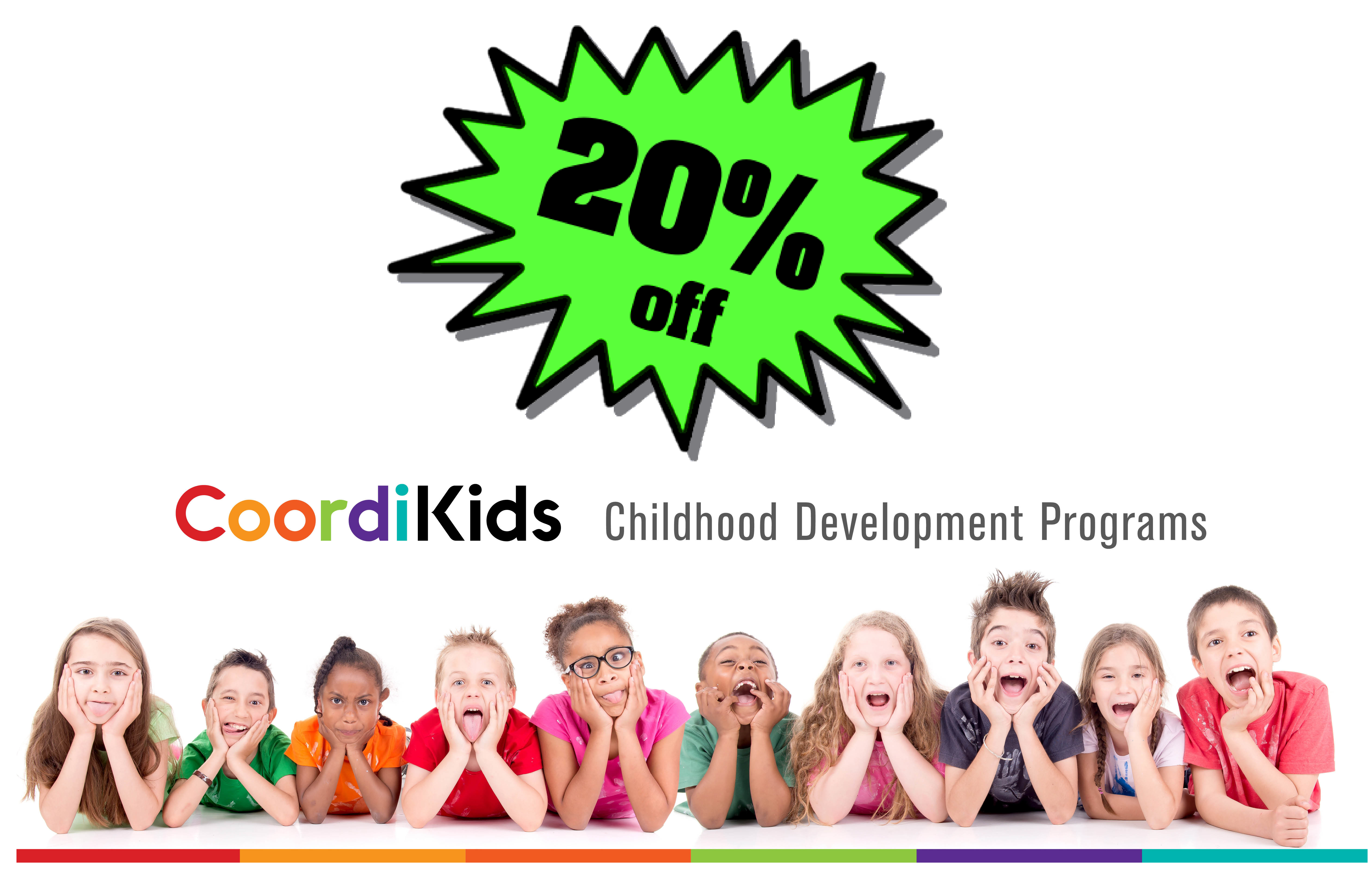 Click to receive 20% off coordikids developmental programs